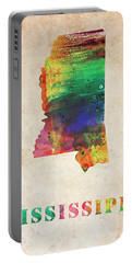 Mississippi Colorful Watercolor Map Portable Battery Charger