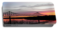 Mississippi River At Savanna Portable Battery Charger