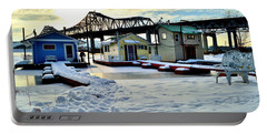Mississippi River Boathouses Portable Battery Charger