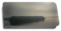 Mississippi River Morning Portable Battery Charger by Aliceann Carlton