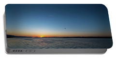Mississippi River Sunrise Portable Battery Charger