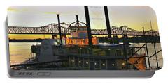 Mississippi Riverboat Sunset Portable Battery Charger