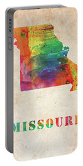 Missouri Colorful Watercolor Map Portable Battery Charger