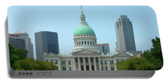 Portable Battery Charger featuring the photograph Missouri State Capitol Building by Mike McGlothlen