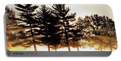 Missouri Tree Line Portable Battery Charger by Christopher McKenzie
