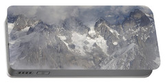 Mist And Clouds At Auiguille Du Midi Portable Battery Charger