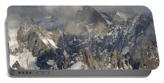 Mist And Light At Aiguille Du Midi Portable Battery Charger
