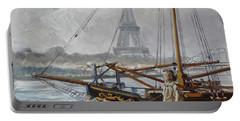 Mist On The Seine, Paris Portable Battery Charger