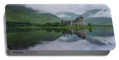 Mist Swarms Around Kilchurn Castle Portable Battery Charger