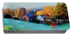 Misty Autumn Day Portable Battery Charger by Diane Alexander