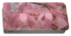 Misty Autumn Leaves Portable Battery Charger by Judy Palkimas