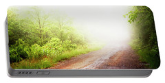 Portable Battery Charger featuring the photograph Misty Back Road, Pocono Mountains, Pennsylvania by A Gurmankin