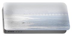 Misty Beach Morning  Portable Battery Charger