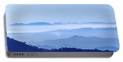 Portable Battery Charger featuring the photograph Misty Blue Mountain Panorama by Geoff Smith