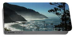 Misty Coast At Heceta Head Portable Battery Charger by James Eddy