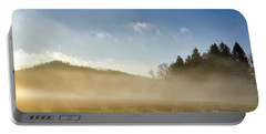 Portable Battery Charger featuring the photograph Misty Country Morning by Thomas R Fletcher