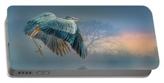 Misty Dawn Heron Portable Battery Charger