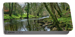 Misty Day On River Teign - P4a16017 Portable Battery Charger