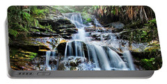 Portable Battery Charger featuring the photograph Misty Falls by Az Jackson