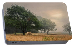 Portable Battery Charger featuring the photograph Misty Fields by Robin-Lee Vieira
