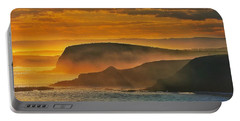 Portable Battery Charger featuring the photograph Misty Island Sunset by Blair Stuart