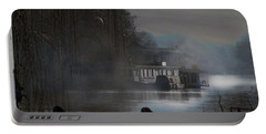 Portable Battery Charger featuring the photograph Misty Moonlight by LemonArt Photography