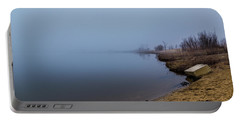 Misty Morning By The Lake Portable Battery Charger