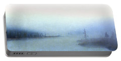 Misty Morning Portable Battery Charger by Catherine Alfidi