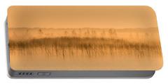 Misty Morning Floating Bog Island On Boy Lake Portable Battery Charger