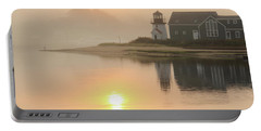 Misty Morning Hyannis Harbor Lighthouse Portable Battery Charger by Roupen  Baker