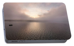 Portable Battery Charger featuring the photograph Misty Morning II by Tom Singleton