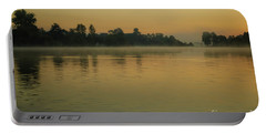 Misty Morning Lake Portable Battery Charger