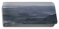 Misty Morning On Exmoor  Portable Battery Charger