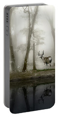 Misty Morning Reflections Portable Battery Charger by Diane Schuster