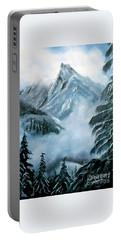 Misty Mountain Portable Battery Charger by Derek Rutt