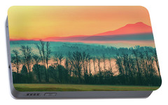 Misty Mountain Sunrise Part 2 Portable Battery Charger by Alan Brown