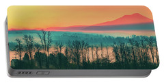 Misty Mountain Sunrise Part 2 Portable Battery Charger