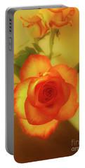 Misty Orange Rose Portable Battery Charger