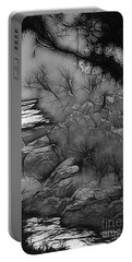 Portable Battery Charger featuring the photograph Misty River by Elaine Teague