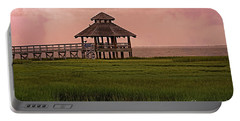 Misty Sunrise At Look Out Point Portable Battery Charger by Ella Kaye Dickey