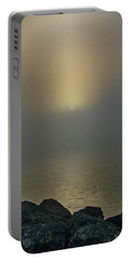 Misty Sunrise Morning Portable Battery Charger