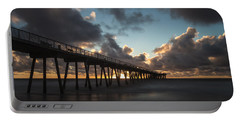 Misty Sunset Portable Battery Charger by Ed Clark