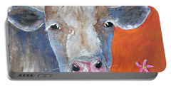Portable Battery Charger featuring the painting Misty by Suzanne Theis