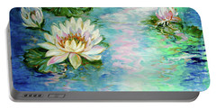 Misty Waters Waterlily Pond Portable Battery Charger
