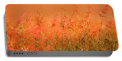 Misty Yellow Hue- Pink Blooms Portable Battery Charger
