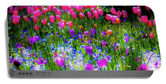 Mixed Flowers And Tulips Portable Battery Charger