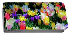 Mixed Tulips In Bloom  Portable Battery Charger