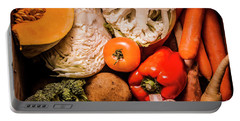 Mixed Vegetable Produce Pack Portable Battery Charger by Jorgo Photography - Wall Art Gallery