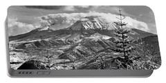 mMt. St.Helens Autumn in Black and White Portable Battery Charger