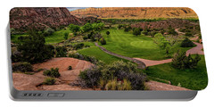 Moab Desert Canyon Golf Course At Sunrise Portable Battery Charger